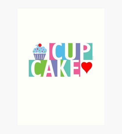 Cupcake love pink 4 Art Print