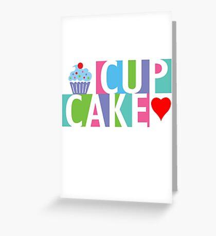 Cupcake love pink 4 Greeting Card