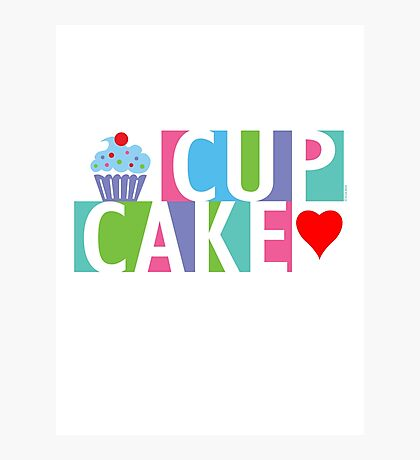 Cupcake love pink 4 Photographic Print