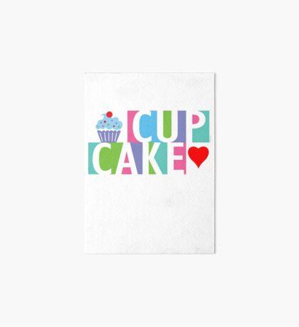 Cupcake love pink 4 Art Board