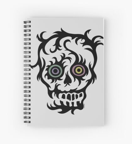 Skull Tattoo - on lights Spiral Notebook