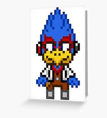 Falco Lombardi - Star Fox Team Mini Pixel Greeting Card