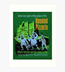 The Haunted Pizzeria Art Print