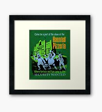 The Haunted Pizzeria Framed Print
