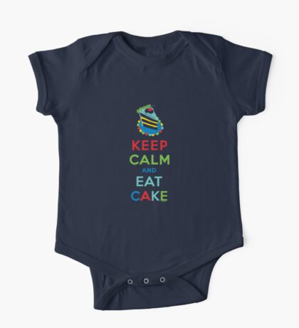 Keep Calm and Eat Cake - on white Kids Clothes