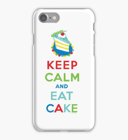 Keep Calm and Eat Cake - on white iPhone Case/Skin