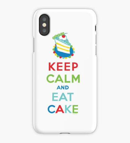Keep Calm and Eat Cake - on white iPhone Case
