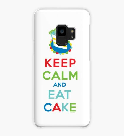 Keep Calm and Eat Cake - on white Case/Skin for Samsung Galaxy