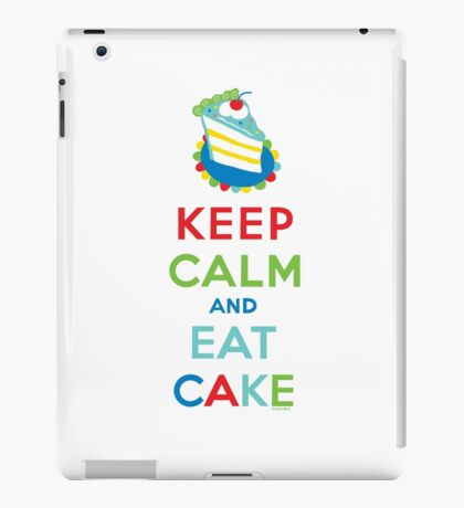 Keep Calm and Eat Cake - on white iPad Case/Skin