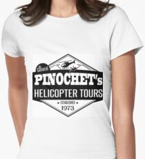 Pinochet's Helicopter Tours Womens Fitted T-Shirt