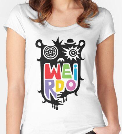 Big Weirdo - multi Women's Fitted Scoop T-Shirt