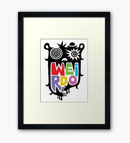 Big Weirdo - multi Framed Print