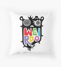 Big Weirdo - multi Throw Pillow