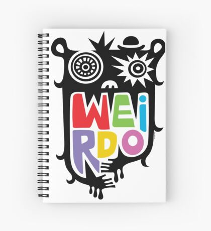 Big Weirdo - multi Spiral Notebook