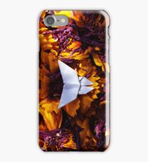 Purple and Yellow - Origami Butterfly iPhone Case/Skin