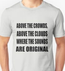 Camiseta unisex Above the Clouds - Gang Starr Letras