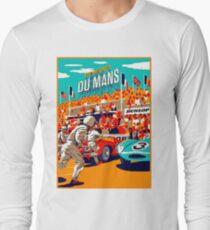 DU MANS: Grand Prix Vintage Auto Advertising Print Long Sleeve T-Shirt