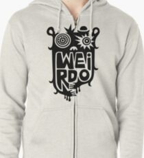 Big weirdo - on light colors Zipped Hoodie