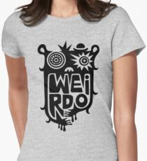 Big weirdo - on light colors Womens Fitted T-Shirt