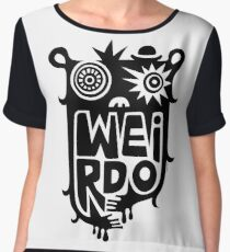 Big weirdo - on light colors Women's Chiffon Top