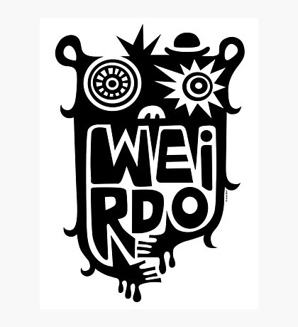 Big weirdo - on light colors Photographic Print