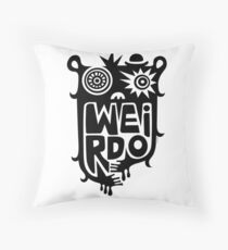 Big weirdo - on light colors Throw Pillow