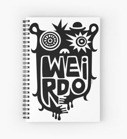 Big weirdo - on light colors Spiral Notebook