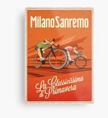 Retro Milan San Remo cycling art Metal Print