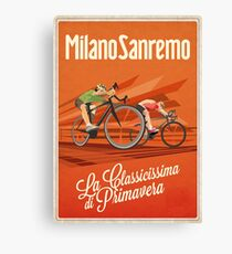 Retro Milan San Remo cycling art Canvas Print