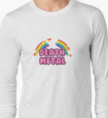death metal silhouette parody unicorn rainbow T-Shirt