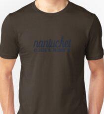 Nantucket coordinates Unisex T-Shirt