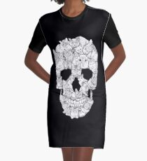 Cat Skull Graphic T-Shirt Dress