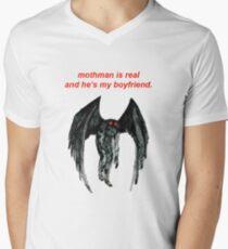 mothman is real and he's my boyfriend. Men's V-Neck T-Shirt