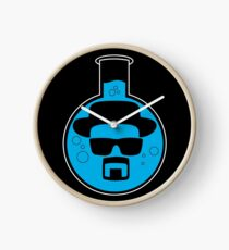 Breaking Bad Blue Flask Round Clock