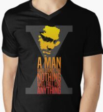Malcolm X Typography Quotes T-Shirt