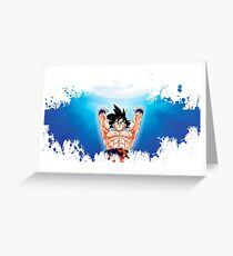 Dragon ball goku splatter Greeting Card