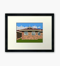 0075 Suburban house Framed Print