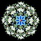 Flower Crown Lily Mandala by PatriciaSheaArt