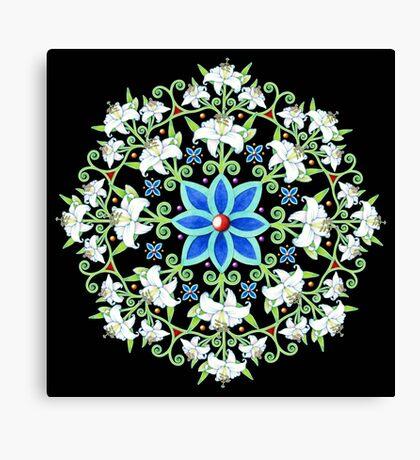 Flower Crown Lily Mandala Canvas Print