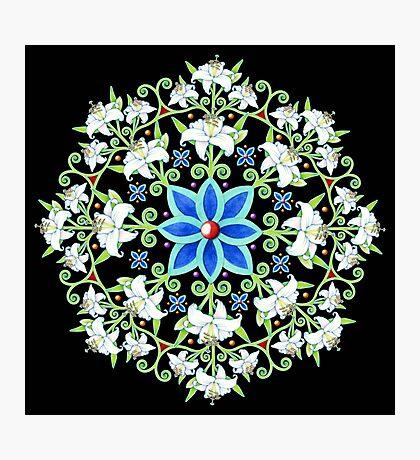 Flower Crown Lily Mandala Photographic Print