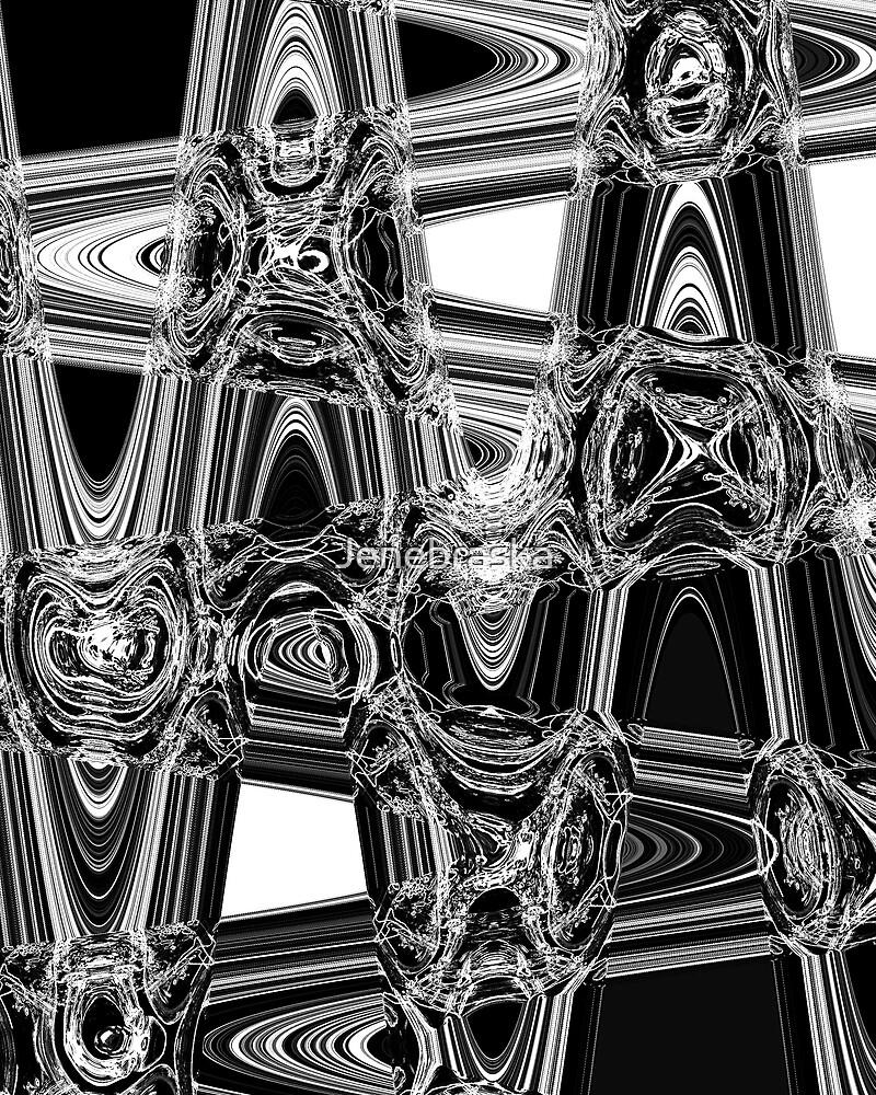 Lines,Shapes Black and White by Jenebraska
