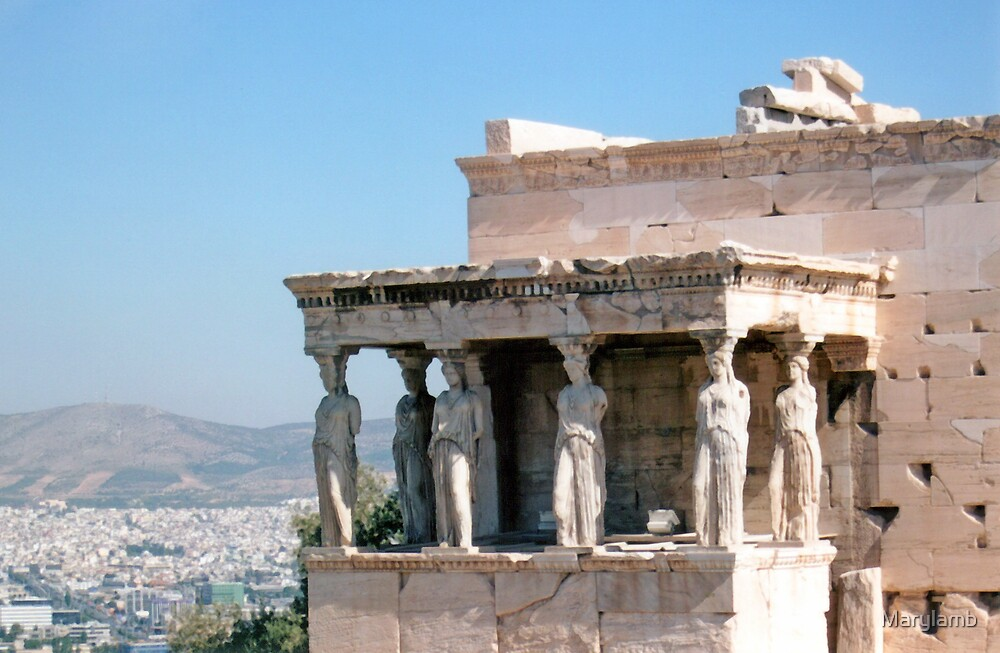 Porch of Caryatids  Athens, Greece by Marylamb