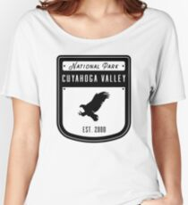 Cuyahoga Valley National Park Ohio Badge Women's Relaxed Fit T-Shirt