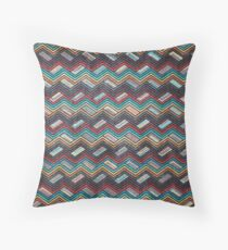 Seamless Colorful Geometric Pattern XII Throw Pillow
