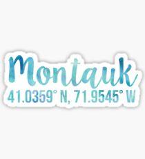 Montauk New York Coordinates  Sticker