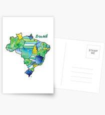 Watercolor Countries - Brasil (Portuguese) Postcards