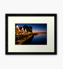 Halifax Waterfront Dusk Framed Print