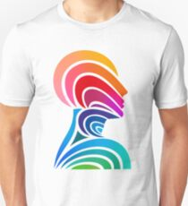 Multi-colored Thinking Head Unisex T-Shirt
