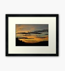 A Lonely Windmill in the Sunset Framed Print