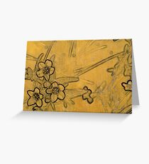 Gold Blossoms 1  Greeting Card